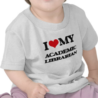 Amo a mi bibliotecario académico camiseta