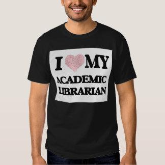 Amo a mi bibliotecario académico (corazón hecho de camiseta