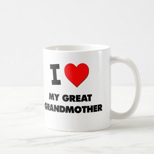 Amo a mi bisabuela taza de café