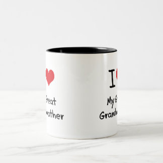 Amo a mi bisabuela taza de dos tonos