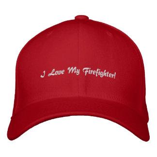 ¡Amo a mi bombero! Gorra bordado Gorra De Béisbol