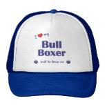 Amo a mi boxeador de Bull (el perro masculino) Gorra
