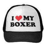 Amo a mi boxeador gorros bordados