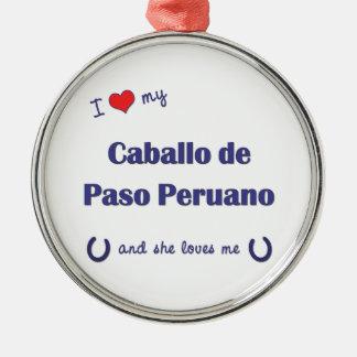 Amo a mi Caballo de Paso Peruano (el caballo Ornamento Para Arbol De Navidad