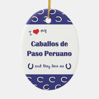 Amo a mi Caballos de Paso Peruano (los caballos Adorno Ovalado De Cerámica
