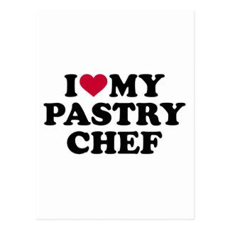 Amo a mi chef de repostería postal