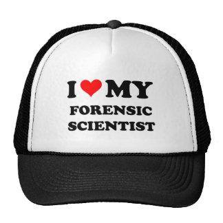 Amo a mi científico forense gorro