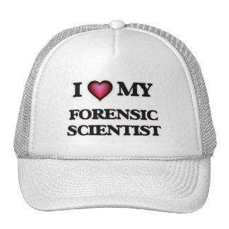Amo a mi científico forense gorro de camionero