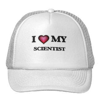 Amo a mi científico gorras