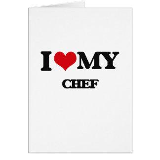 Amo a mi cocinero tarjeton