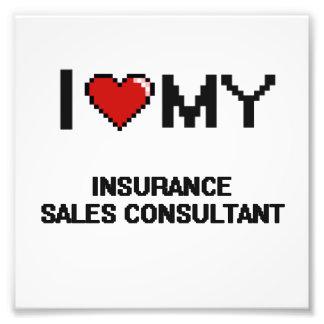 Amo a mi consultor de las ventas del seguro arte con fotos