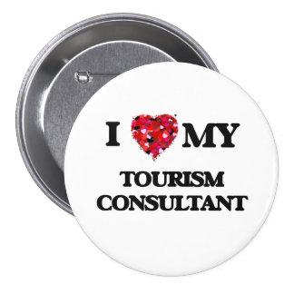 Amo a mi consultor del turismo chapa redonda 7 cm