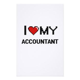Amo a mi contable papeleria personalizada