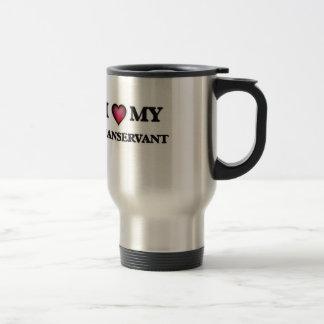 Amo a mi criado taza de viaje