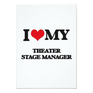 Amo a mi director de escena del teatro invitación 12,7 x 17,8 cm