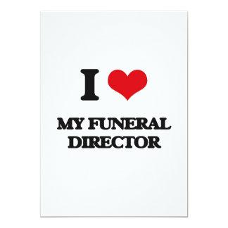 Amo a mi director de funeraria invitación 12,7 x 17,8 cm