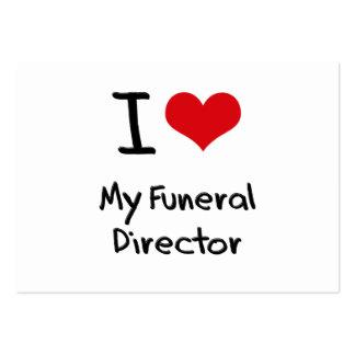 Amo a mi director de funeraria tarjetas de negocios