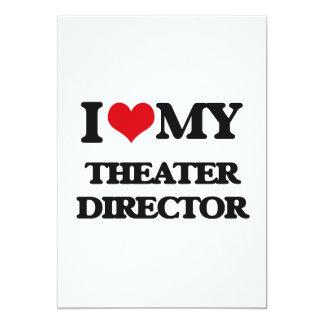 Amo a mi director del teatro invitación 12,7 x 17,8 cm