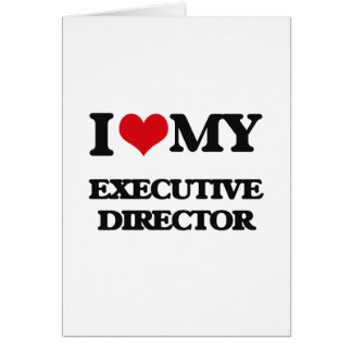 Amo a mi director ejecutivo felicitación