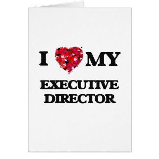 Amo a mi director ejecutivo tarjeta de felicitación