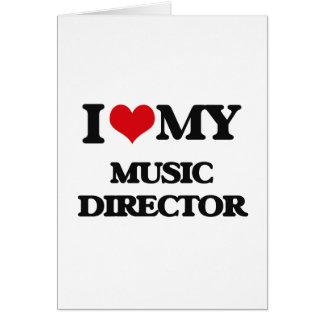 Amo a mi director musical tarjeta
