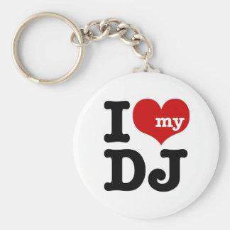 Amo a mi DJ Llavero Redondo Tipo Chapa