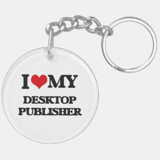 Amo a mi editor de escritorio llavero