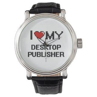 Amo a mi editor de escritorio relojes de pulsera