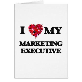 Amo a mi ejecutivo de marketing tarjeta de felicitación