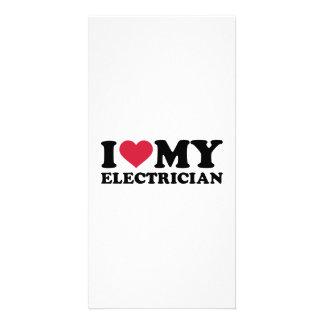 Amo a mi electricista plantilla para tarjeta de foto