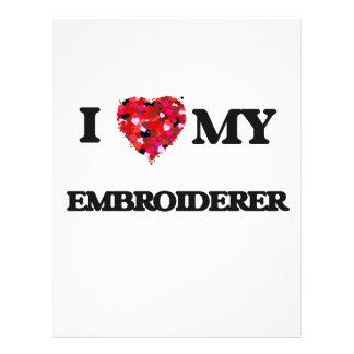 Amo a mi Embroiderer Folleto 21,6 X 28 Cm