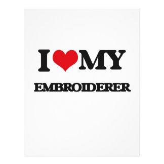 Amo a mi Embroiderer Tarjetas Publicitarias