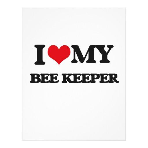 Amo a mi encargado de la abeja tarjetas informativas