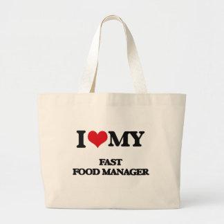 Amo a mi encargado de los alimentos de preparación bolsas de mano