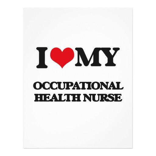 Amo a mi enfermera de medicina del trabajo flyer personalizado
