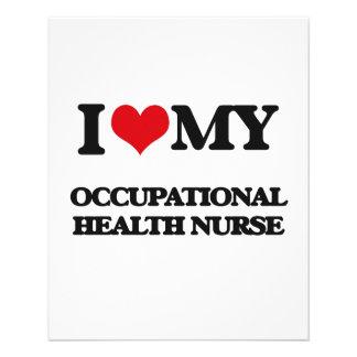 Amo a mi enfermera de medicina del trabajo tarjeton