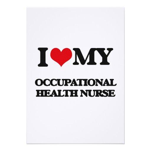 Amo a mi enfermera de medicina del trabajo invitacion personal