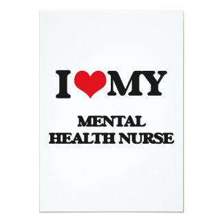Amo a mi enfermera de salud mental invitación 12,7 x 17,8 cm