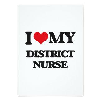 Amo a mi enfermera del distrito invitación 12,7 x 17,8 cm