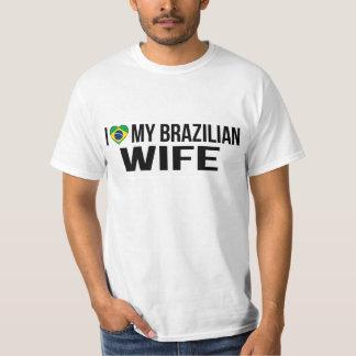 Amo a mi esposa brasileña camiseta