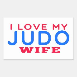 Amo a mi esposa del judo rectangular altavoces