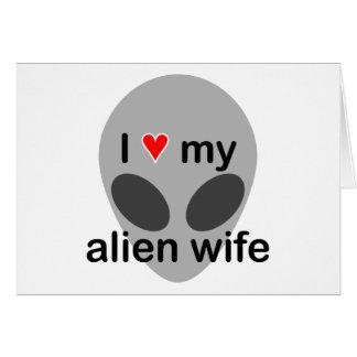 Amo a mi esposa extranjera felicitación