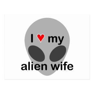 Amo a mi esposa extranjera tarjetas postales