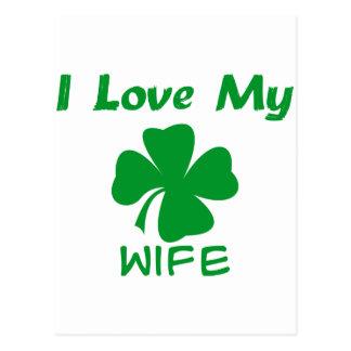 Amo a mi esposa irlandesa postal