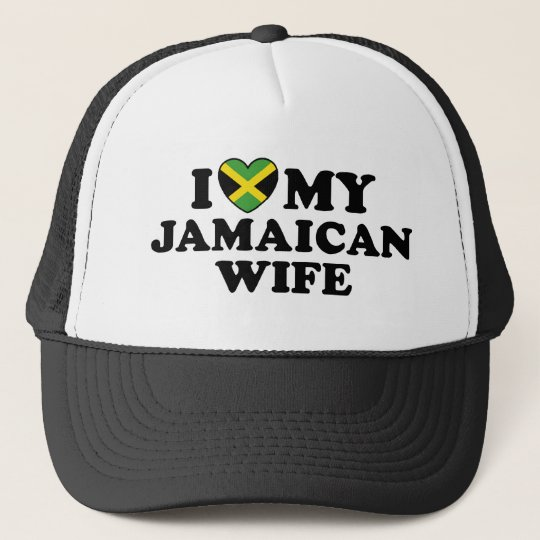 Amo a mi esposa jamaicana gorra de camionero