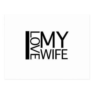 Amo a mi esposa postal