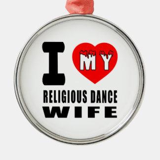 Amo a mi esposa religiosa adorno