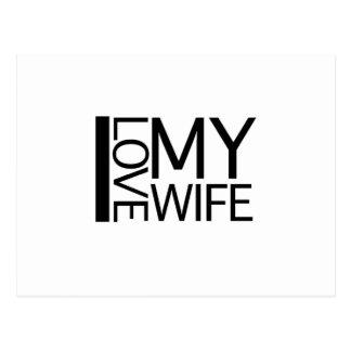 Amo a mi esposa tarjeta postal