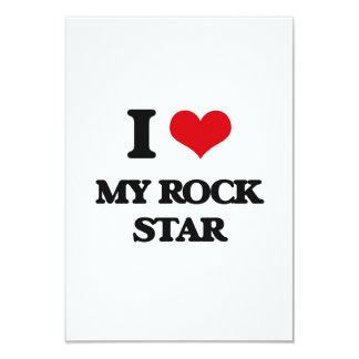 Amo a mi estrella del rock invitación 8,9 x 12,7 cm