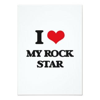 Amo a mi estrella del rock invitación 12,7 x 17,8 cm